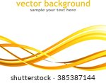 abstract background with orange ... | Shutterstock .eps vector #385387144