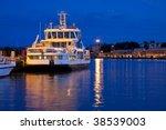 Small Docked Tourist Ship