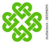 4 leaf clover shaped knot ... | Shutterstock .eps vector #385398094