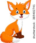 cute fox cartoon | Shutterstock . vector #385402741