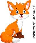 cute fox cartoon | Shutterstock . vector #385402741