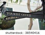 Metallic Signpost Indicating...