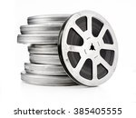 vintage film reels isolated | Shutterstock . vector #385405555