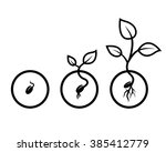 Vector Drawing Black Seeds Of...