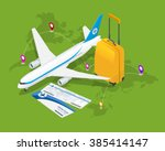buying or booking airline... | Shutterstock .eps vector #385414147