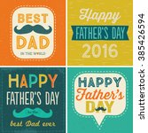 set of four typographic cards... | Shutterstock .eps vector #385426594