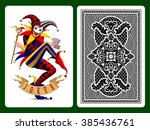 Joker Playing Card And Black...
