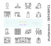 home stuff outline icon set of... | Shutterstock .eps vector #385438921
