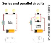 series and parallel circuits | Shutterstock .eps vector #385448599