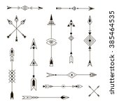 set of decorative arrows.... | Shutterstock .eps vector #385464535