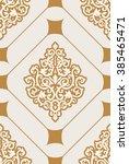vintage vector seamless pattern ... | Shutterstock .eps vector #385465471