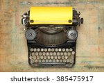 vintage typewriter | Shutterstock . vector #385475917