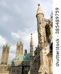Small photo of The towers of Canadian Parliament in Ottawa, Canada