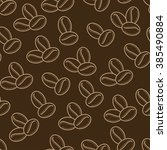 seamless pattern. coffee beans. ... | Shutterstock .eps vector #385490884