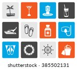 flat sea  marine and holiday... | Shutterstock .eps vector #385502131