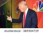 pasadena  ca   jan 16  donald... | Shutterstock . vector #385504729