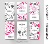 floral ornament vector brochure ... | Shutterstock .eps vector #385508971