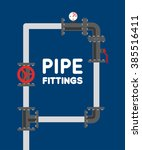 pipe fitting vector set. | Shutterstock .eps vector #385516411