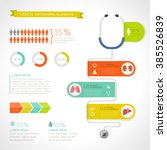 medical infographic set. vector ... | Shutterstock .eps vector #385526839