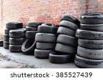Used Tires At The Brick Wall...