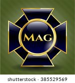mag golden emblem | Shutterstock .eps vector #385529569