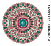 mandala vector for art ... | Shutterstock .eps vector #385530061