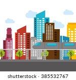 buildings concept design  | Shutterstock .eps vector #385532767