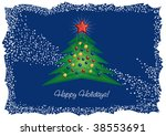 christmas tree and diamond star ...