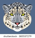 portrait of leopard muzzle | Shutterstock .eps vector #385537279