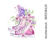 Vintage Sneakers With Flowers ...