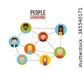people sharing design  | Shutterstock .eps vector #385540171