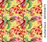 seamless floral pattern on... | Shutterstock . vector #385544875
