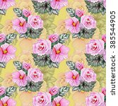 seamless floral pattern on... | Shutterstock . vector #385544905