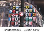 famous swiss clock at leicester ... | Shutterstock . vector #385545349