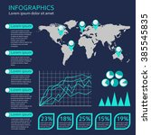 infographics template with... | Shutterstock .eps vector #385545835
