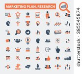 marketing plan  research icons    Shutterstock .eps vector #385545874