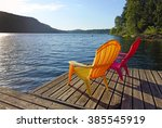 picture of two adirondack... | Shutterstock . vector #385545919