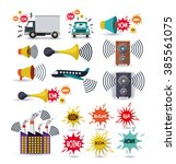 noise pollution design  vector... | Shutterstock .eps vector #385561075