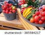 Various Of Vegetable In Garden