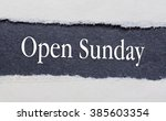 Open Sunday Words Under Torn...