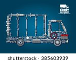 mechanical engine parts... | Shutterstock .eps vector #385603939