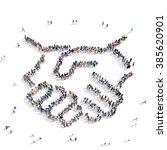 people shape  handshake... | Shutterstock . vector #385620901
