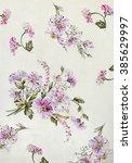 floral hand made design | Shutterstock . vector #385629997