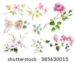 floral hand made design | Shutterstock . vector #385630015