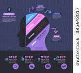 flat style human head business... | Shutterstock .eps vector #385643017