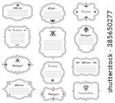 vector decorative frames set ... | Shutterstock .eps vector #385650277
