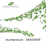 abstract 3d checked  business...   Shutterstock . vector #38565409