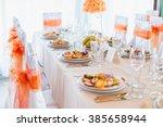 simple and elegant restaurant... | Shutterstock . vector #385658944