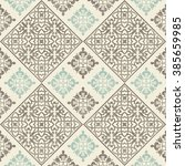 seamless damask pattern on... | Shutterstock .eps vector #385659985