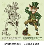 st. patricks day card symbol.... | Shutterstock .eps vector #385661155